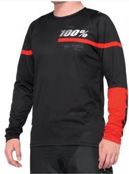 100% R-Core Jersey schwarz-rot 2020